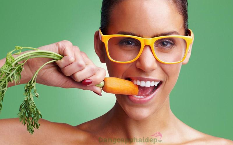 Cà rốt là thực phẩm rất tốt cho thị lực.