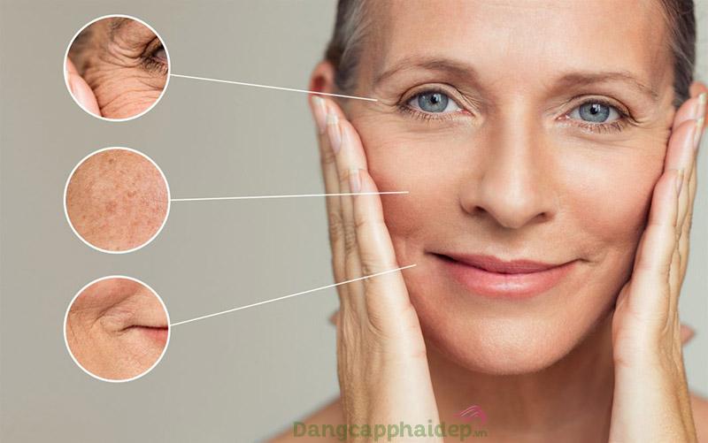Kem chống nắng hỗ trợ ngăn ngừa các dấu hiệu lão hóa sớm trên da.
