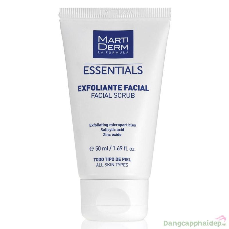 Kem tẩy tế bào chết dạng hạt MartiDerm Essentials Facial Scrub.