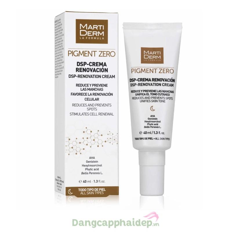 Martiderm Pigment Zero DSP Renovation Cream 40ml - Kem dưỡng sáng da, mờ sắc tố