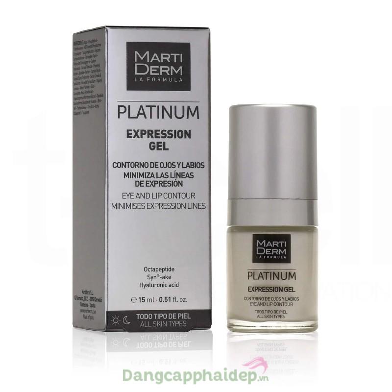Martiderm Platinum Expression Gel 15ml - Gel dưỡng làm đầy rãnh và giảm nhăn