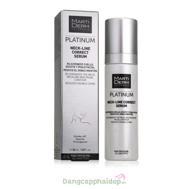 Martiderm Platinum Neck Line Correct Serum 50ml - Tinh chất làm săn chắc và trẻ hóa vùng da cổ