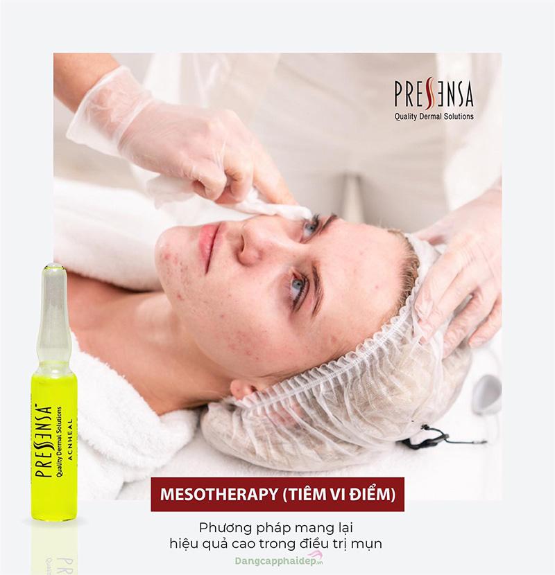 Pressensa AcnHeal - Mesotherapy phương pháp điều trị mụn hiệu quả cao.