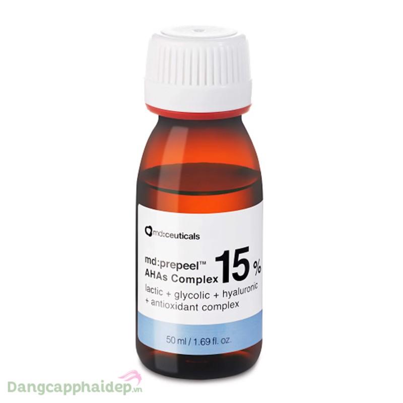 Md:ceuticals Md Prepeel AHAs Complex 15% 50ml - Dung dịch thay da sinh học trắng sáng da và căng bóng