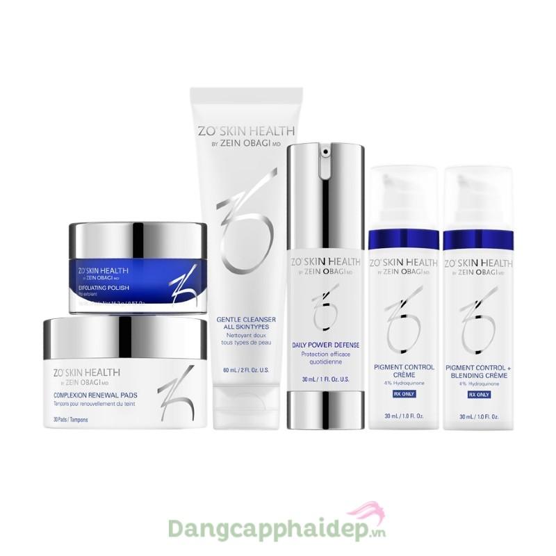 Zo Skin Health Pigment Control Program + Hydroquinone - Bộ sản phẩm chuyên điều trị da nám, tàn nhang
