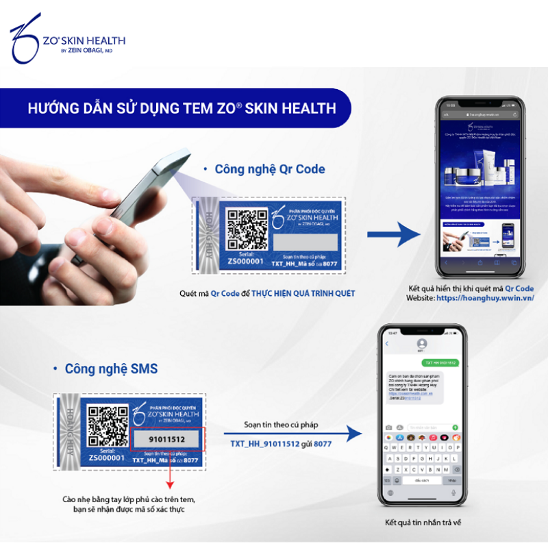 Cách sử dụng tem Zo Skin Health.