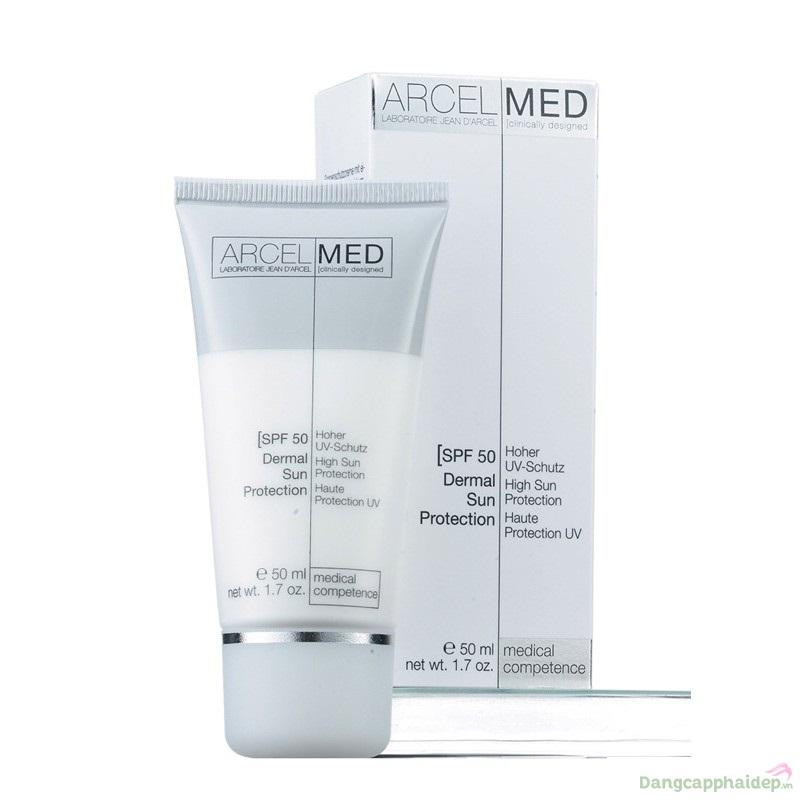 Jean D'Arcel Dermal Sun Protection SFP 50 50ml - Kem chống nắng dưỡng da trắng hồng