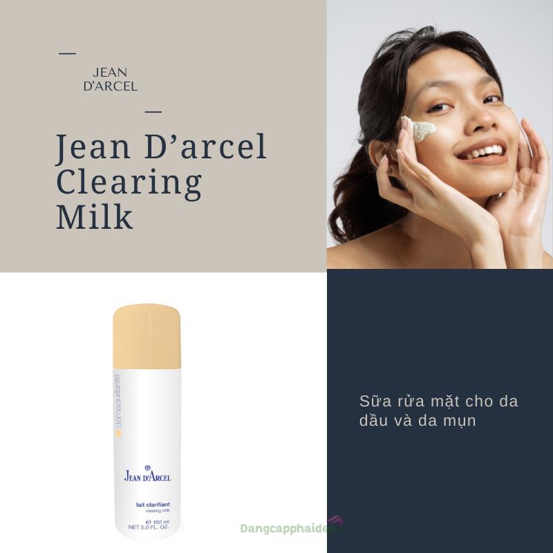 Sữa rửa mặt dành cho da dầu và da mụn Jean D'Arcel Clearing Milk