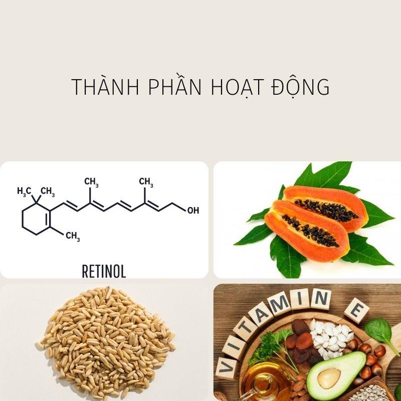 Thành phần hoạt động có trong kem dưỡng thể Zo Skin Health Body Emulsion.