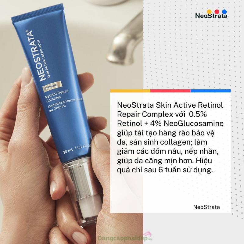 NeoStrata Skin Active Retinol Repair Complex làn da mịn màng không tì vết.