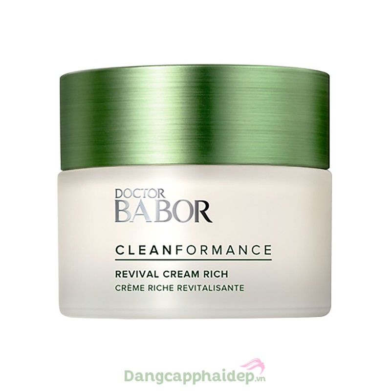 Babor Revival Cream Rich 50ml - Kem dưỡng tăng cường độ đàn hồi da, ngăn ngừa lão hóa sớm