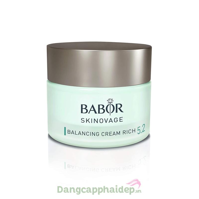 Babor Skinovage Balancing Cream Rich 50ml - Kem dưỡng ẩm và điều chỉnh độ cân bằng cho da hỗn hợp